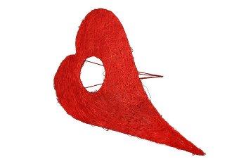 sisal holder,heartsh.,long, curved