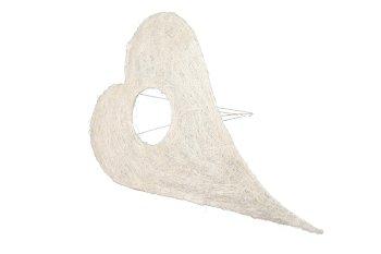 Sisal-Herzmanschette, lang, gewölbt