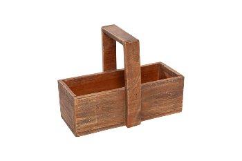 wooden box w handle