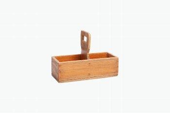 wooden bottle box w handle