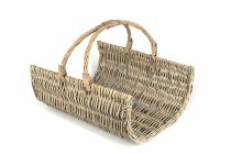 willow firewood basket, rectangular