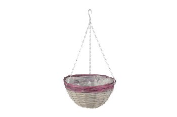 split willow planter, hanging