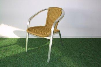 Alum ratt.chair,75x55x62cm