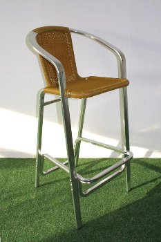 Alum rattan bar chair,105x50x53cm