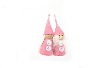 felt garden gnome couple