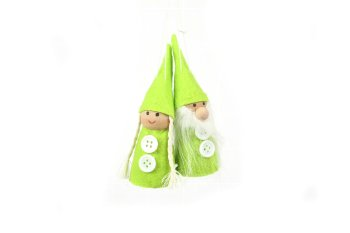 felt garden gnome couple