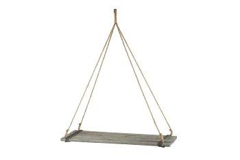Holz-Regal mit Rundstäben