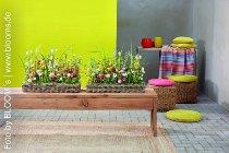 rattan plantertray, rectangular