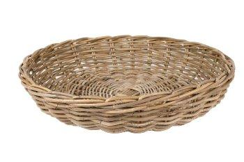rattan plate, round