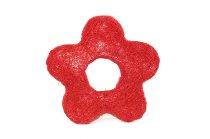 sisal open daisy,red,15cm