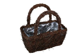 dark grass planter bag, rectangular