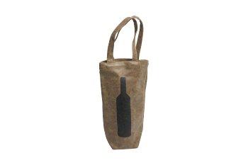 leatherette bottle bag