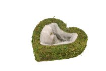 moss planter heart, tight