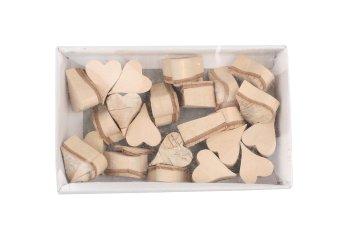 birch bark heart, pointed