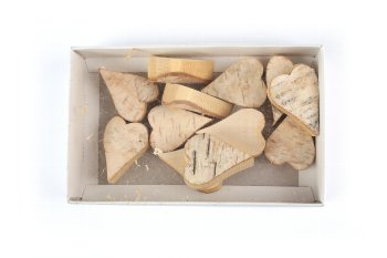 birch bark heart, pointed