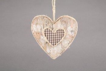 birch/textile heart