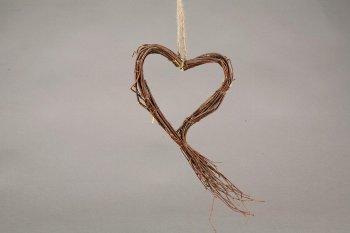 birch/brush wood heart