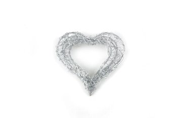 wire heart, 8pcs/box, thick, open