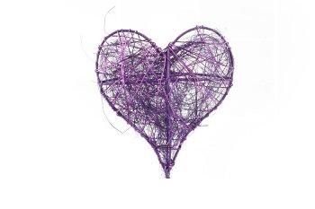 wire/sisal heart, 10pcs/box