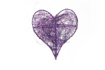 wire/sisal heart, 10pcs/box