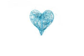 wire/sisal heart, 8pcs/box
