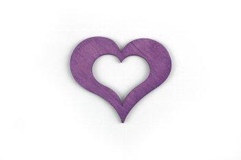 wooden heart, open, 12pcs/bag