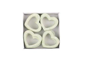 wooden hearts, open