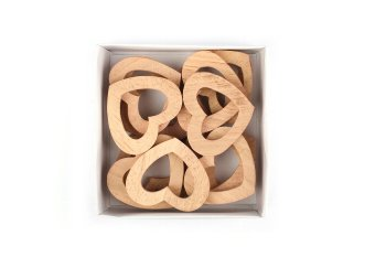 wooden hearts, thick, open