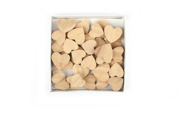 wooden hearts, thick, size assort.
