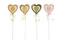 wooden heart stick