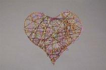 vine/wire heart, flat