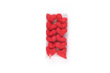 sisal heart, 12pcs box