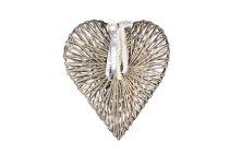split willow heart, central weaving