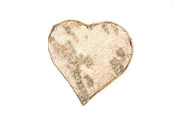 birch heart,10cm