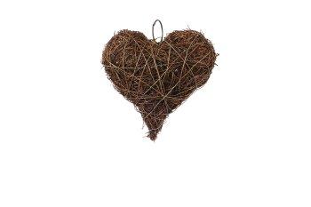 dark grass heart,thick,12,5cm