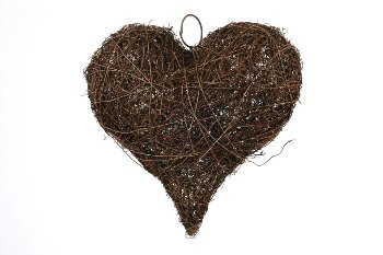 dark grass heart,thick,20cm
