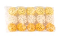 rattan ball, maize+light yellow+