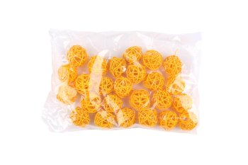 rattan ball,yellow,3cm