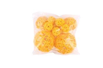 rattan balls,10pcs per bag,assor.