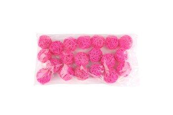 rattan ball,pink,5cm