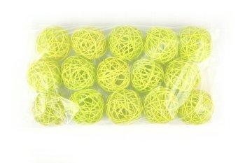 rattan ball,lightgreen,7,5cm