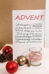 "wooden board ""Advent"" w 1 glass"