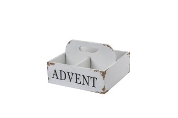 wooden advent box w handle