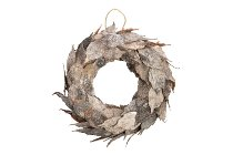 birch bark leaves wreath