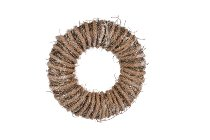 manila rope/glitter wreath