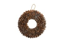 pinecone wreath with glitter