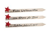 wooden stick with star, assorted