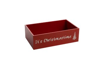 """wooden box """"It's Christmastime"""""""