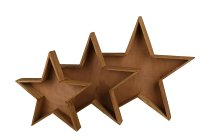 wooden star planter