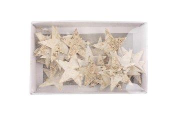 birch stars, 30pcs/box